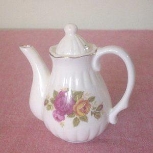 Fine Bone China Cottage Rose Miniature Tea Pot EC
